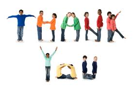 Image of Thank You spelled out by kids