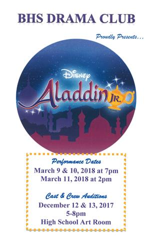 Aladdin Production Flyer